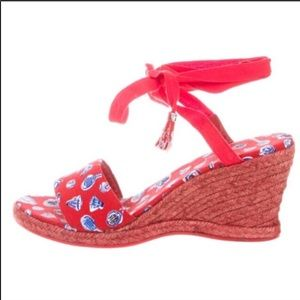 Chanel sandal jute wedge
